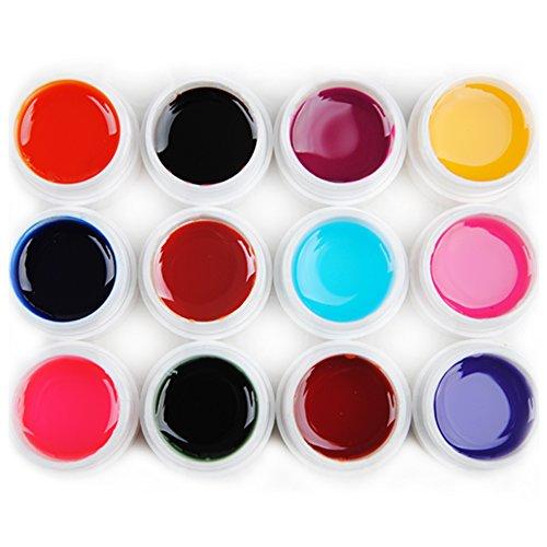Mode Galerie 12 Couleur Transparent UV Gel Vernis à Ongles Nail Art Polish Kit