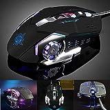 Mechanische Gaming-Maus, mit 4Farben, Licht, 4dpi verstellbar, mitSound Gaming-Mäuse 3200DPI 6programmierbare Tasten mit USB Kabel Luminous PC Gaming-Maus für PC Laptop