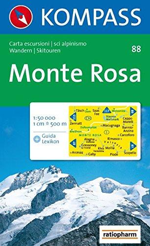 Monte Rosa: Wander- und Skitourenkarte. Carta escursionistica, scialpinistica. 1:50.000 (Monte Rosa)