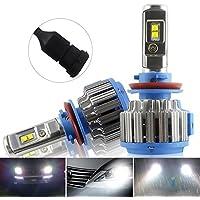 Safego 75W H11 H8 H9 Lámpara LED Kit Bombillas 4Chips 6000LM Alto Low LED Kit de Conversión de Coche 12V Reemplazar Para Luces Halógenas o Bombillas HID Lámpara T1-H8911