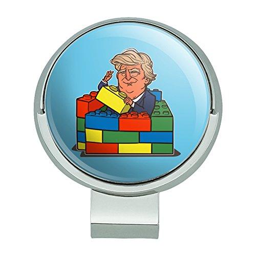 Graphics and More Präsident Trump Building Toy Wand Blocks Bricks USA Amerika Golf Hut Clip mit Magnet Ball ()