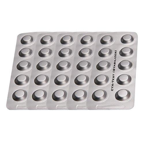PoolLAB Testtabletten CyA - Test / Stabilizer - Cyanursäure Nachfüllpackung für elektronischen Poolwassertester-50