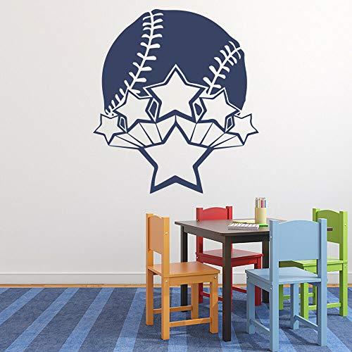 BFMBCH Baseball Wandaufkleber Jungenzimmer Ballspiele Sport Wohnzimmer Kinderzimmer Dekoration selbstklebende Wandaufkleber A1 37x42cm