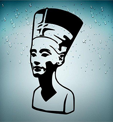 klebend Wandtattoo Ägypten Antik Alte ägyptische Nefertiti Königin schwarz ()