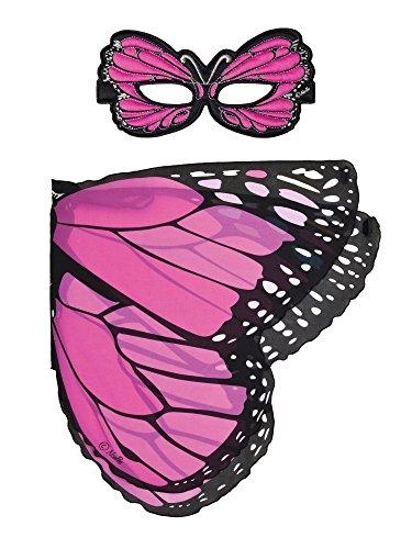 Dreamy Dress-Ups 66070Mask + Wings, Flügel + Maske, Pink Monarch Butterfly, Schmetterling Monarchfalter Danaus plexippus (Monarch-schmetterlings-flügel Für Kinder)