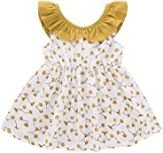 DaMohony Vestido de Verano para Niñas Ropa de Algodón para Bebés Pantalones Cortos Largos Camiseta Volantes pa
