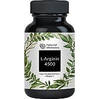 L-Arginin - 365 Kapseln - Einführungspreis - 4500mg L-Arginin HCL pro Tagesdosis - Aus pflanzlicher Fermentation & ohne unerwünschte Zusätze - Laborgeprüft, hochdosiert, vegan und hergestellt in Deutschland
