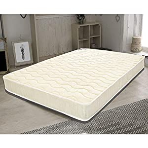 Storeinuk Breathable Fabric Mattress with Pocket Springs and Memory Foam - 9 Zone Orthopaedic Mattress - 7.8-Inch - Off White