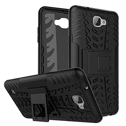 YHUISEN Hyun Pattern Dual Layer Hybrid Armor Case Abnehmbar Kickstand 2 In 1 Shockproof Tough Rugged Case Cover für LG X Max ( Color : Orange ) Black