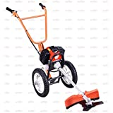 Neptune® 52 cc Heavy Duty Petrol Displacement Engine Hand Push Brush Cutter With Wheels Hand Grass Cutter/Grass Trimmer With Hand Push Handle