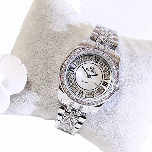 Strass Casual Quarzuhr Frauen Full Alloy Damen Alle Spiel Kleidung Armbanduhren Luxusuhren Relogio Feminino