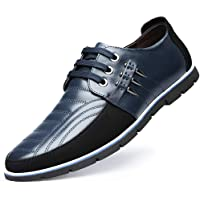 Chaussures de Ville à Lacets Homme Classique Oxford Lacets en Cuir pour Conduite Occasionnelle Mocassins Affaires…