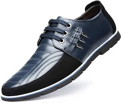 Scarpe Stringate Basse Uomo Mocassini Eleganti Oxford Casual Elegante Classiche Slip on Comode Lacci Loafer