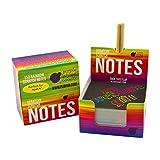 Purple Ladybug Novelty Block-Notes Scratch Art per Bambini e Adulti Cubo di 150 Fogli in Carta Magica Nera per Appunti, Disegni, Giochi e Regali | Pennelli Inclusi | Blocco con Scritta Arcobaleno