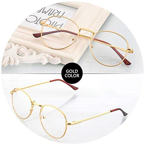 DiiZii Unisex Vintage Pilotenbrille Metallrahmen Fensterglas Brille Ohne Stärke Durchsichtig...