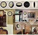 MJY8 Retro Lounge Mute Wanduhr zeigt antike Tasche rund um die Uhr Wanduhr Schlafzimmer (Modell: F)