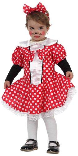 Atosa 10487 - Verkleidung Ratte Baby Gr. 68-74 (Ratte Kostüm Baby)