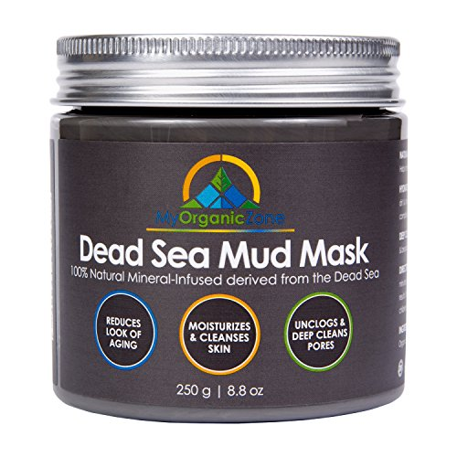 Dead-Sea-Mud-Mask - Best Solution for Acne-Treatment, Great Face-Mask, Perfect Anti-Aging Cream, Clay-Mask that Minimizes Pores & Acne, Facial-Mask that Reduces Wrinkles, 250g/8.8 fl oz