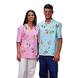 Casaca de uniforme de enfermero/hospital, para pediatría, estampado infantil para terapia con...