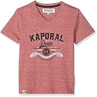 KAPORAL Jungen Acros T-Shirt, Rot (Rouge Poppy), 6 Jahre