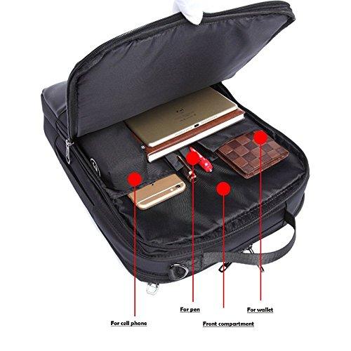 Imagen de  para portátil, 3 en 1 bolsa bandolera/maletin/backpack de hombres para laptop 15.6 pulgada, impermeable netbook dayback para universidad/negocios/trabajo, azul alternativa