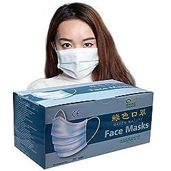 Schutzmaske 3-lagiger Mundschutz mit Gummizug 50er Pack Einweg-Gesichtsmasken aus dreilagigem Vliesstoff