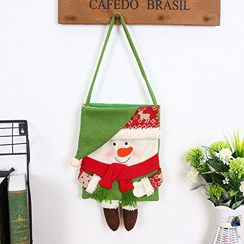 Bluelover Weihnachtstag Stocking Dekoration Santa Candy Bag Stocking Taschen Schmuck Süßigkeiten Kleinere Bekleidungsaccessoires - 1