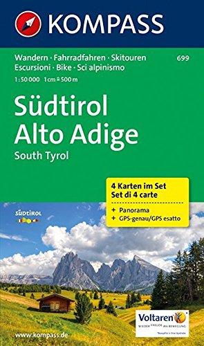 Südtirol 699 GPS 4-Set kompass par Kompass-Karten