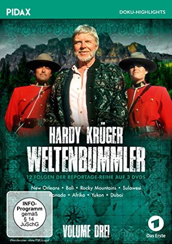 Hardy Krüger - Weltenbummler Vol. 3 / Weitere 12 Folgen der spannenden Reportage-Reihe von Hardy Krüger (Pidax Doku-Highlights) [3 DVDs]