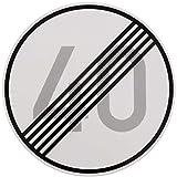 ORIGINAL Verkehrszeichen ENDE 40 km/h Verkehrschild für den 50 Geburtstag Geschenk mit RAL Gütezeichen StVO Geburtstagsschild Straßenschild Verkehrsschilder Schild Schilder Straßenzeichen Straßenschilder Geschwindigkeitsaufhebung Geburtstagsgeschenk