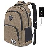 YAMTION Rucksack Schule,Schulrucksack für Jungen Teenager und Herren,15.6 Zoll Laptop Rucksack für Arbeit Schule Camping