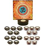 TYYC New Year Gifts Items Beautiful Om Tealight Candle Holders Set Of 51 | New Year Tea Lights T-lites Candles Diyas Lights For Home Decoration Items Home Decor | New Year Corporate Gifts For Office, Employees, Clients, Staff