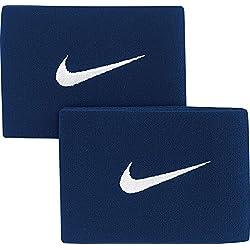 Nike Guard Stay - Banda sujeta espinillera, color azul / blanco, talla única
