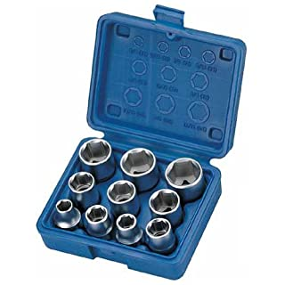 Alkan-Werkzeug 10-Piece Socket Wrench Set with SAE Sizes, 1/2-Inch Drive