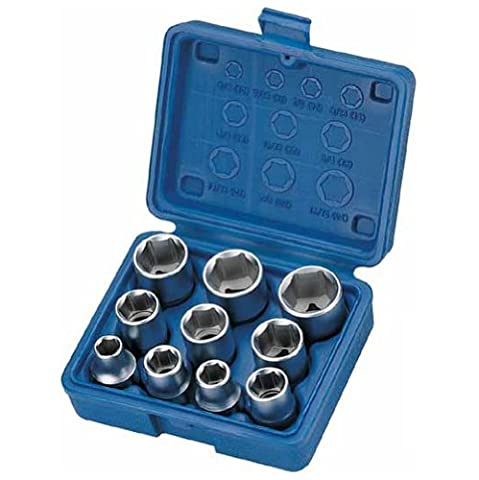 Alkan-Werkzeug 10-Piece Socket Wrench Set with SAE Sizes, 1/2-Inch Drive