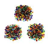 Sharplace 480g Crystal Glasmosaiksteine Dekoration Klarglas Mosaik Fliesen Für DIY Handwerk Dreieck/Platz / Rhombus