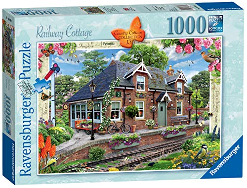Ravensburger 13989 - Country Collection Nr. 13 - Railway Cottage, 1000 Teile Puzzle - Native Garden Collection