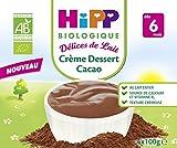 Hipp Biologique Délices de Lait Semoule au Lait Vanille/Fromage Blanc nature sucré/Crème Dessert Cacao dès 6 mois - 24 Coupelles de 100 g
