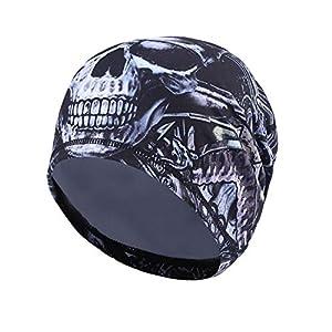 TAGVO Radfahren Skull Cap, Sport Headwear Beanie Hüte mit Ohrenschutz Windproof Helm Liner für Erwachsene Männer und Frauen – Stretchable Fit für die meisten