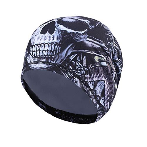 AYPOW Cycling Skull cap, Sport Headwear Beanie Hats con Copri Orecchie Antivento Helmet Liner per Adulti Uomini e Donne - Estensibilità per la Maggior Parte