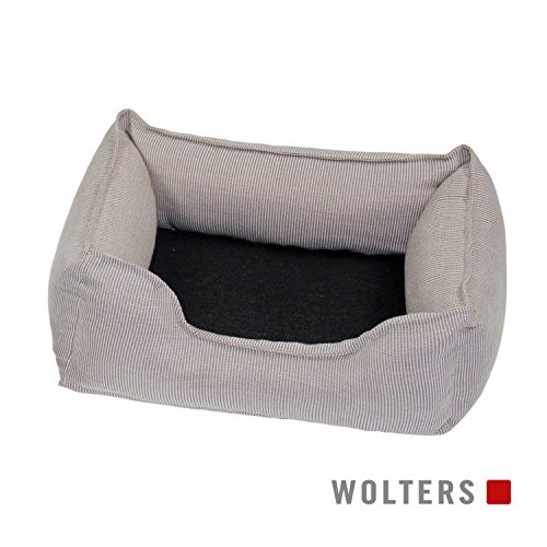 Wolters Dog Lounge Noble Stripes beige/granit 80 x 65 cm