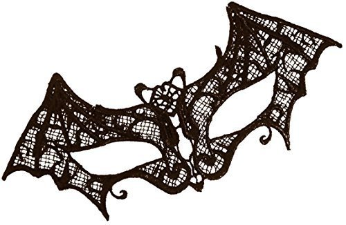 Black Lace Bat Mask Masquerade B...