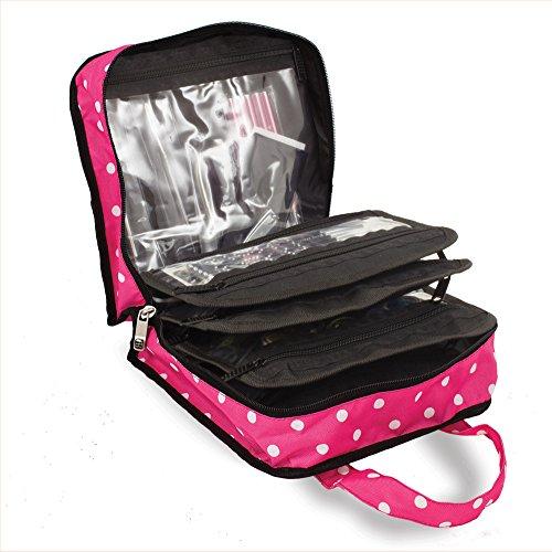 Roo Beauty Bitzee Nail Art Storage Bag Nail Technician Organiser Case in Pink Polka Dot by Roo Beauty