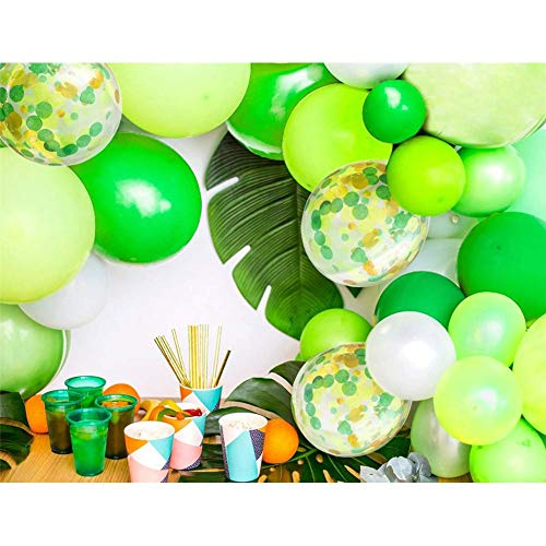 Campinery Wald Thema Party Ballon Set alles Gute zum Geburtstag Banner Hawaii Dinosaurier Wald Geburtstag Party Ballons Dekoration Dschungel Thema Party Supplies benchmark