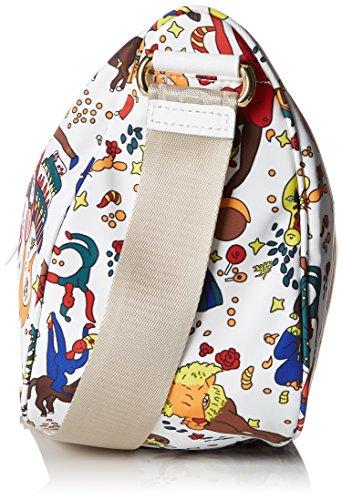 Tracolla Messenger Piero Guidi Donna, 30x25x12 Centimetri Bianco (bianco)