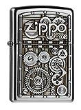 Zippo 2004497 Gear Wheels Feuerzeug, Messing, Silber, one Size