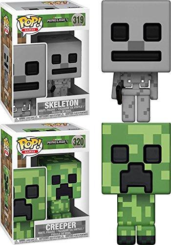 Funko POP! Minecraft: Skeleton + Creeper - Stylized Video Game Vinyl Figure Set NEW