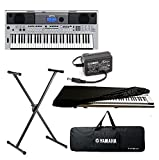 Yamaha PSR-I455, 61 Keys Touch Sensitive Keyboard With Keyboard Stand,Adapter, Keyboard Padded Bag & Keyboard Dust Cover Combo Pack.
