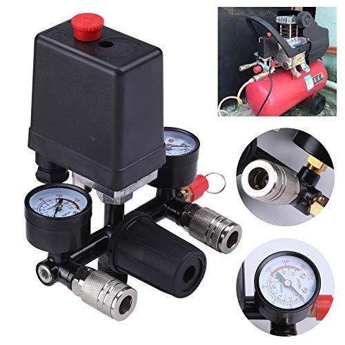 Allright Druckregler mit Druckschalter f Kompressor Druckwächter Kompressorschalter (Luft Kompressor Zubehör)