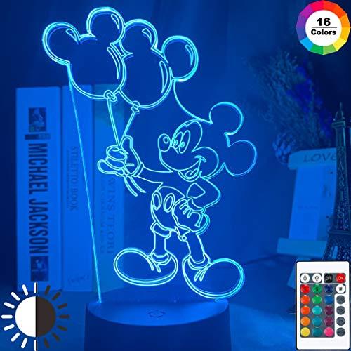 Sanzangtang luz Nocturna led-3D-seven Colores-luz Nocturna remota ratón de Dibujos Animados Figura...